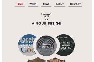 Mẫu web anguudesign.vn