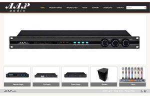 Mẫu web aapaudio.com