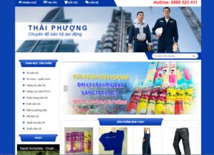 Mẫu web baohothaiphuong.com