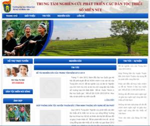 Mẫu web dantocmiennuisonghong.com