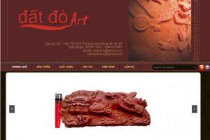Mẫu web datdoart.com.vn