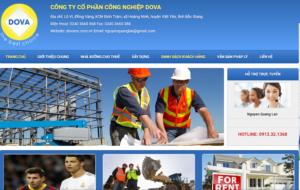 Mẫu web dovaco.com.vn