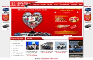 Mẫu web hondatayho.net.vn