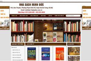 Mẫu web minhducbook.com