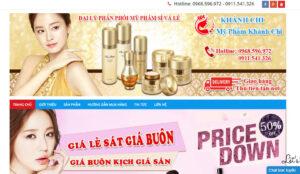 Mẫu web myphamkhanhchi.com
