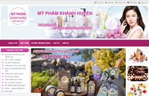 Mẫu web myphamkhanhhuyen.com