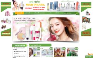 Mẫu web myphamminhphuong.com