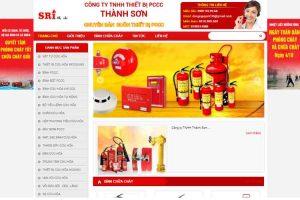 Mẫu web pcccthanhson.vn