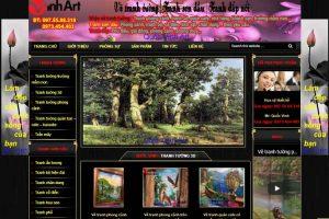 Mẫu web quocvinhart.com