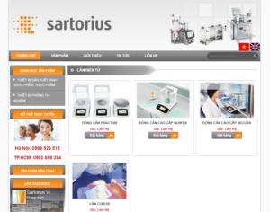 Mẫu web sartoriusvietnam.com.vn