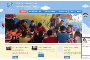 Mẫu web sfora.edu.vn
