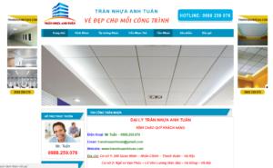 Mẫu web trannhuaanhtuan.com