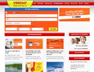 Mẫu web vere247.net
