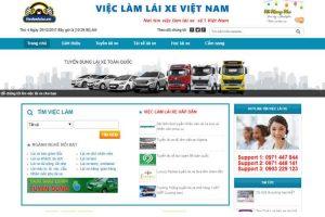 Mẫu web vieclamlaixe.net