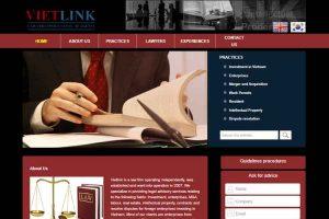 Mẫu web vietlinklaw.net