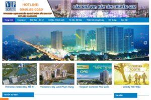 Mẫu web viphomes.com.vn