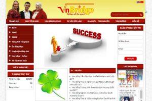 Mẫu web vnbridge.edu.vn