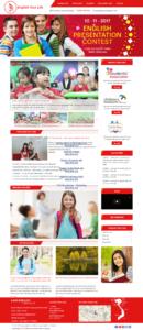Mẫu website trung tâm anh ngữ lagu.edu.vn – TU