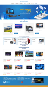 Mẫu website Delight Shop – TU