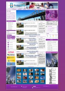 Mẫu website BridgeBlue-TYC