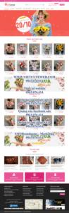 Mẫu website Shop hoa Gift Love – TU