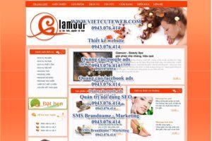 Mẫu website Glamour demo 1 -TYC