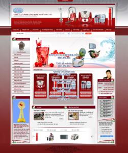 Mẫu website Đồ gia dụng Lino-TYC