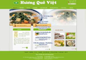 Mẫu website Thực phẩm Hương quê Việt-TYC