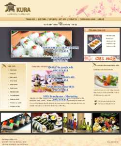 Mẫu website KuRa Restaurant-TYC