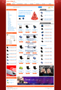 Mẫu website Laptop HNK -TYC
