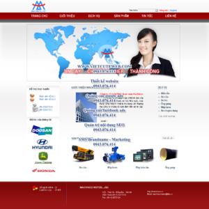 Mẫu website Machinco-TYC