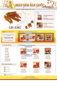 Mẫu website Nhân sâm-TYC