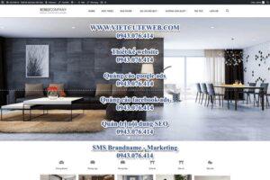 Mẫu website Nội thất kenly – TU