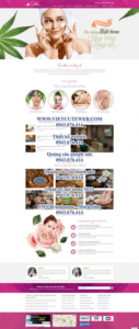 Mẫu website Spa Saton-TU