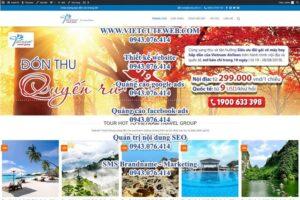 Mẫu website Viet Nam Travel Group- TU