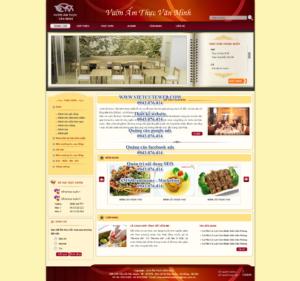 Mẫu website Ẩm thực văn minh-TYC