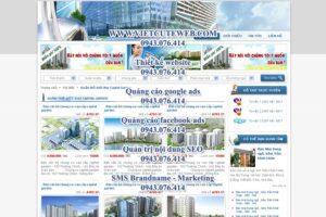 Mẫu website Bất động sản-TYC
