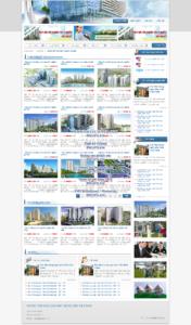 Mẫu website Giao dịch bất động sản-TYC