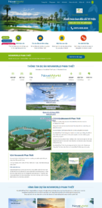 Mẫu website Bất động sản Novaworld – TU