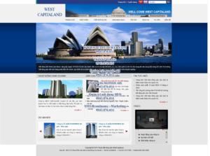 Mẫu website Bất động sản West capitaland-TYC
