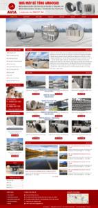 Mẫu website nhà máy bê tông Amaccao – TU