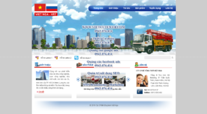 Mẫu website Bê tông Việt Nga-TYC