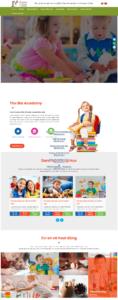 Mẫu website Anh ngữ Bla Academy – TU