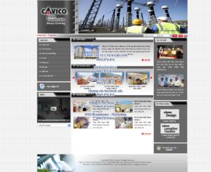 Mẫu website Cavico-TYC