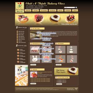 Mẫu website Bánh ngọt-TYC