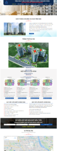 Mẫu website bất động sản MHDI Land – TU