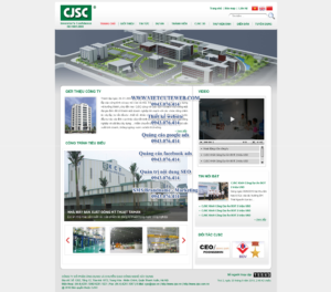 Mẫu website Bất động sản CJSC-TYC