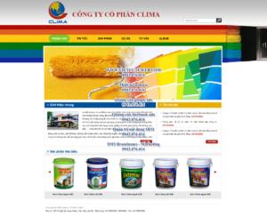 Mẫu website Clima-TYC
