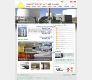 Mẫu website Cơ khí Ha Son-TYC