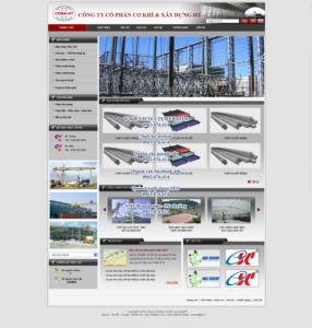 Mẫu website Cơ khí và xây dựng HT-TYC